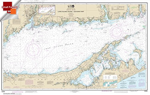 Paradise Cay Publications NOAA Chart 12354: Long Island Sound Eastern part 21.00 x 33.08 (SMALL FORMAT WATERPROOF)