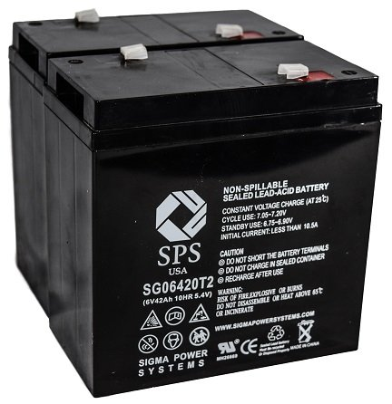 SPS Brand 6V 42Ah Replacement battery for Emergi-Lite 24M12 ( 2 PACK) by SPS