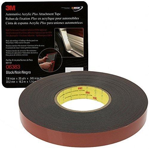 3M(TM) Automotive Acrylic Plus Attachment Tape, Black, 7/8