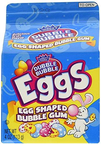 Cartons 4 Ounce (Dubble Bubble Gum Eggs Carton 4.0oz (Pack of 6))
