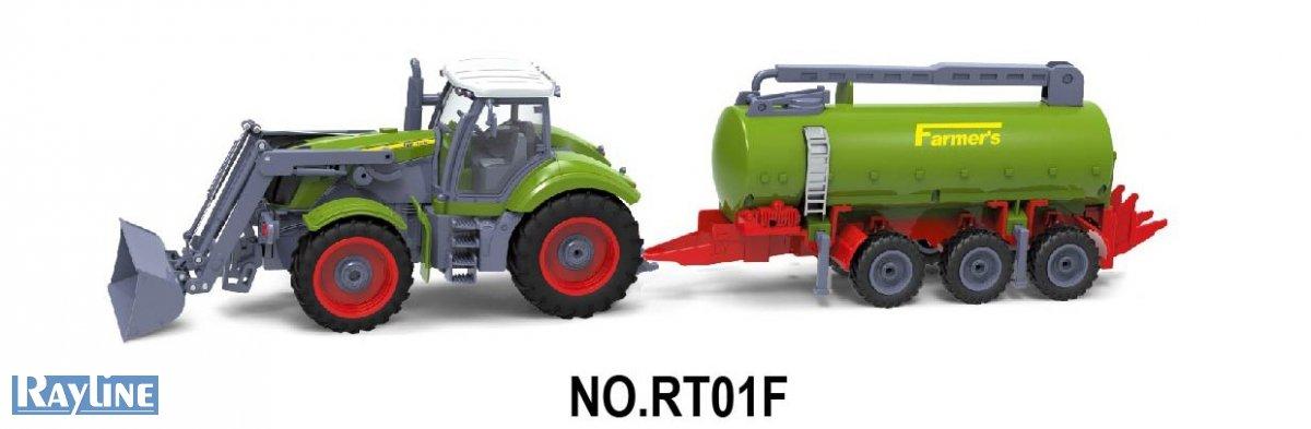 RC Traktor Nutzfahrzeug RT01F Rayline mit Anhänger Farmer Set Ideal für Kinder 27 Hz 1:28