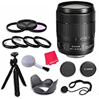 Canon EF-S 18-135mm f/3.5-5.6 Image Stabilization USM Lens (Black) Lens Bundle with 67mm 3 Piece Filter Kit for Canon EOS 80D Digital SLR Camera