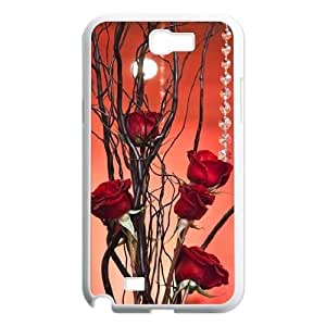 red floral CUSTOM Cover Case for Samsung Galaxy Note 2 N7100 LMc-31463 at LaiMc WANGJING JINDA