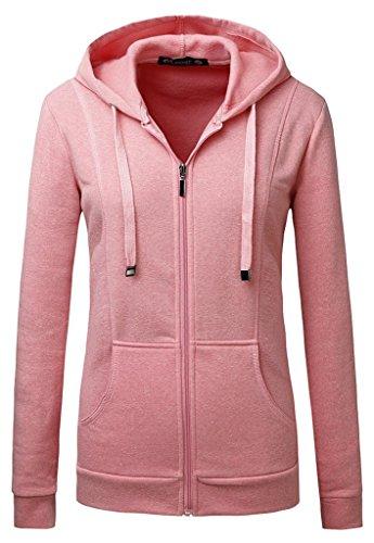 Mrignt Women's Full Zip Fleece Sweatshirt Hooded