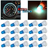 CCIYU 20 Pack Ice Blue T5/T4.7 Neo Wedge Halogen Bulb 12V For A/C Climate Control Light