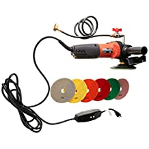 "Hardin CCPOLSET 5"" Concrete counter top Cement Floor Polisher Grinder and Diamond Pad Set"