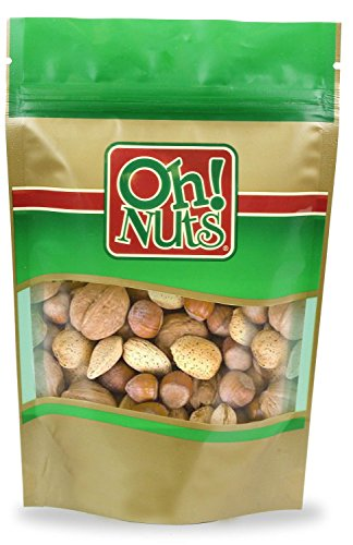 Mixed Nuts Large Raw in Shell, Jumbo Seasonal in Shell Nuts Mix - 2 Pound Bag (32 Oz) - Oh! Nuts ()