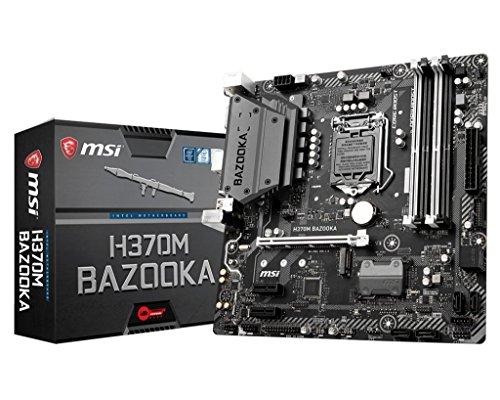MSI Arsenal Gaming Intel Coffee Lake LGA 1151 DDR4 VR Ready Onboard Graphics Micro-ATX Motherboard (H370M Bazooka)