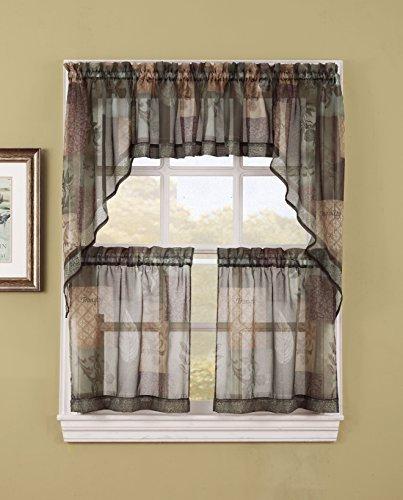 - S. Lichtenberg Eden Kitchen Tier Curtains, 56 by 24-Inch, Sage (Tiers & swags sold separately) by S. Lichtenberg Co. Inc