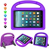 F i r e 7 2017 Tablet Kids Case - Natple Light Weight Shock Proof Handle Kids Friendly Stand Protective Cover Case A m a z o n F i r e 7 Tablet(5th Gen, 2015 / 7th Gen, 2017) (Purple)
