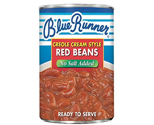 Blue Runner Foods Creole Cream Style Red Beans, No Salt Added, 27 Ounce (Pack of 12) by Blue Runner Foods