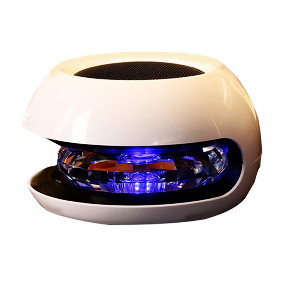 Eastlion Pink Fashion Crystal Ball with LED Light Solar Car in Addition to Formaldehyde Purifier for Car Use