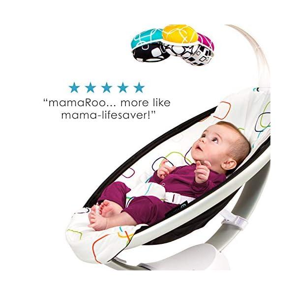 4moms mamaRoo 4 Baby Swing, Bluetooth Baby Rocker with 5 Unique Motions, Soft, Plush Fabric, Multi Plush 6