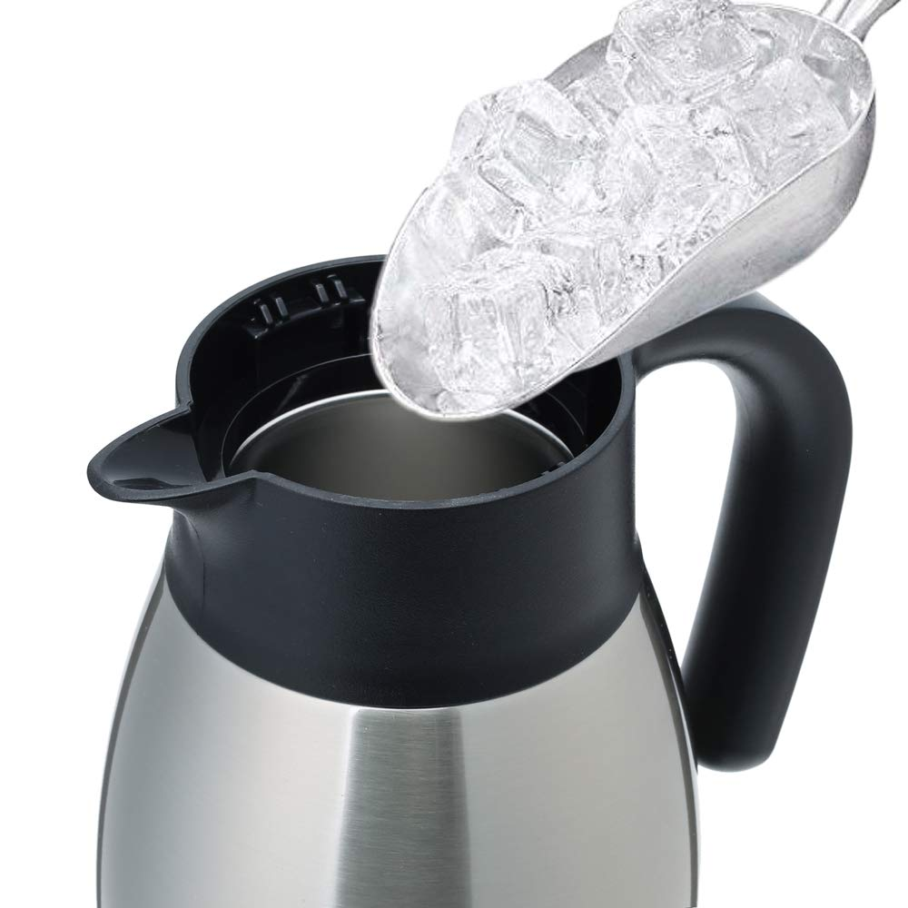 12 Hour Heat Retention,1.0L GiNT Stainless Steel Thermal Coffee Carafe with Lid//Double Walled Vacuum Thermos Silver