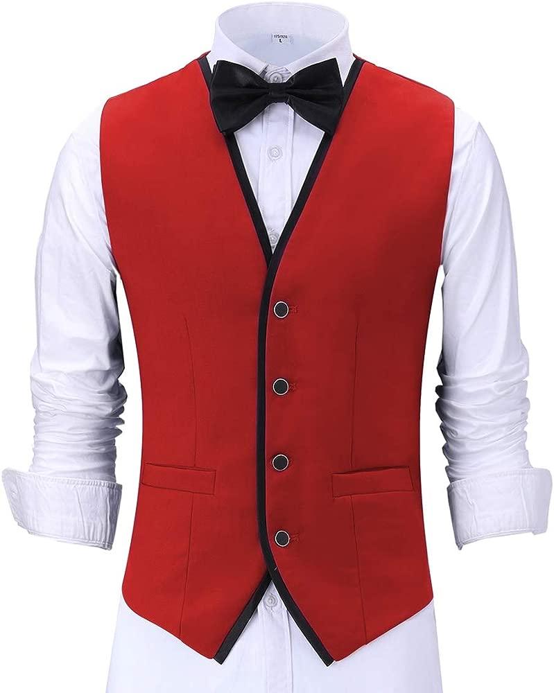 Pre-Suit Chaleco de Traje Formal para Hombre, Ajuste Delgado ...