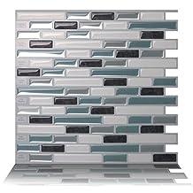 Tic Tac Tiles® - Premium Anti-mold Peel and Stick Wall Tiles in Como Marrone (5)
