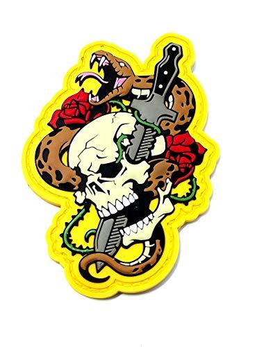 Milspec Monkey - Skull Snake - PVC Morale Patch - Full Color (Snake Skull For)
