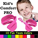 Kid's Comfort PRO Youth Double Sports Mouth Guard Wear with or Without Braces (Pink)