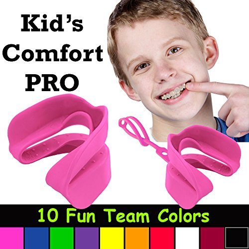 Kid's Comfort PRO Youth Double Sports Mouth Guard Wear with or Without Braces (Pink) (Guard Mouth Pro)