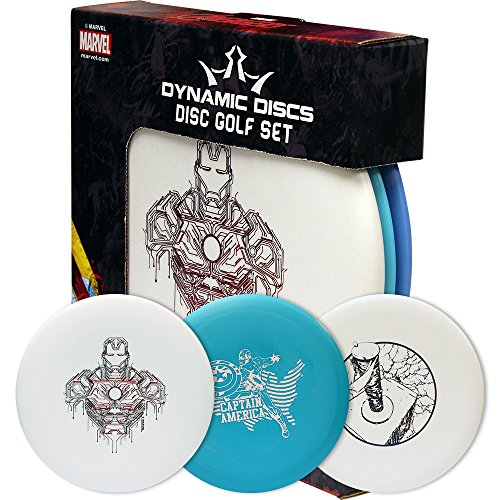 Dynamic Discs Marvel Prime Disc Golf Starter Set [Disc models, weights, and colors may vary] by Dynamic Discs