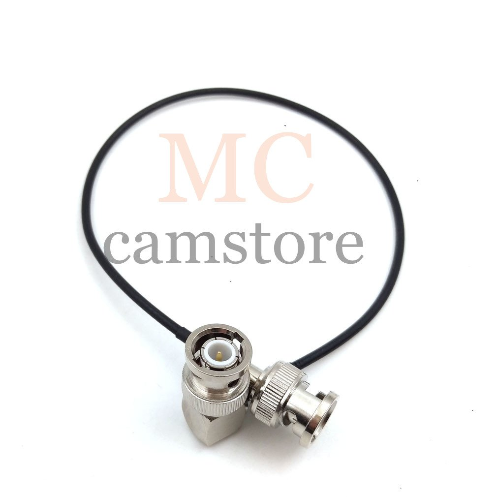 Right Angle to Right Angle, 250cm=8.2ft MCCAMSTORE 3G 75Ohm HD SDI Cable Male HD SDI Extension Cable for BMCC BMPC Hyperdeck Cameras Video Cable