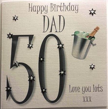 Happy Birthday Card Dad 50th Birthday Handmade Card Amazon