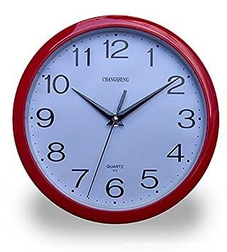 Relojes Reloj de pared Reloj de pared creativo dibujo reloj de pared Reloj de pared circular de plástico morado: Amazon.es: Hogar