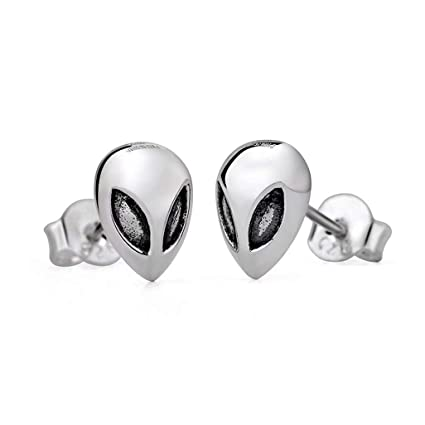 f51d3b0145d Amazon.com: PMLV Alien Monster Stud Earrings Male 925 Sterling ...