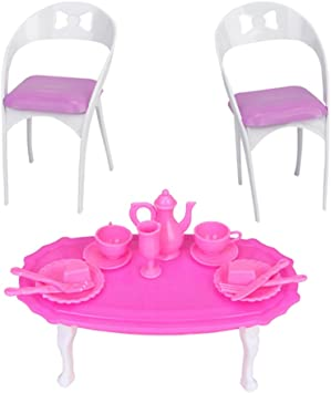 Tavola da Pranzo Sedia Tavolino Miniature Mobili Casa Arredamento Regalo Set