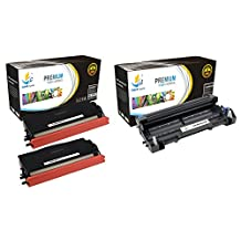 Catch Supplies TN580 & DR520 Premium Combo Replacement Toner Cartridge and Drum Unit Compatible with Brother HL-5240 5250DN 5250, MFC-8460N 8660DN 8860, DCP-8060 8065DN Printers |2 TN-580, 1 DR-520|