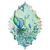 Deny Designs Madart Inc., Peacock Princess, Baroque Clock, Medium