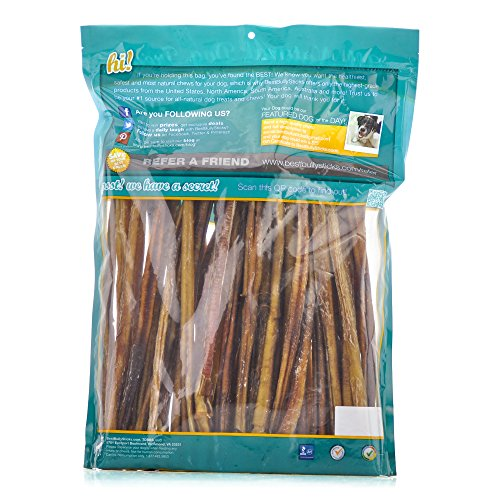 12 inch supreme bully sticks by best bully sticks 25 pack all natural dog treats animals pet. Black Bedroom Furniture Sets. Home Design Ideas