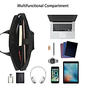 Laptop Bag, Beyle 15.6 inch Laptop Case, Briefcase Messenger Shoulder Bag for Men Women, College Students Business People Office Workers Professional Computer, Notebook, Table, MacBook Bag, Black