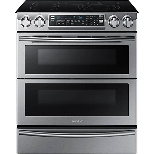 Samsung NE58K9850WS / NE58K9850WS/AA / NE58K9850WS/AA 5.8 Cu. Ft. Electric Slide-in Flex Duo Range (Slide In Induction Range With Double Oven)