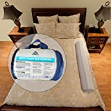 Foam Safety Bed Bumper Toddler Bed Rail - Portable Bedside Sleep Guard Side Pillow Pad | Water-Resistant, Non-Slip, Machine Washable Cover | Babies Children Kids Adults Seniors | Home, Hotel, Travel: more info