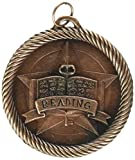 "Hammond & Stephens VM258B Multi-Level Dovetail/Reading Value Medal, 2"" Size, Solid Die Cast, 0.13"" Height, 2"" Width, 2"" Length, Bronze"