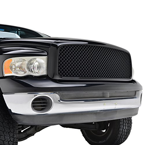 Black Grille Shell (E-Autogrilles Black ABS Replacement Front Mesh Grille Grill With Shell for 02-05 Dodge Ram 1500 / 03-05 Dodge Ram 2500 / 03-05 Dodge Ram 3500)