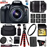 Canon EOS Rebel T6 DSLR Camera with 18-55mm is II Lens + Flexible Tripod + UV Protection Filter + Professional Case + Card Reader - International Version
