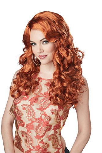 California Costumes Women's Shockwaves Wig, Auburn, One Size - Party City Girl Costumes 2016