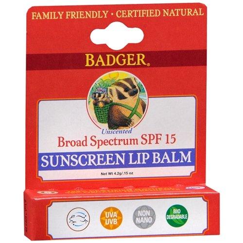 Badger Unscented Lip Balm - 9