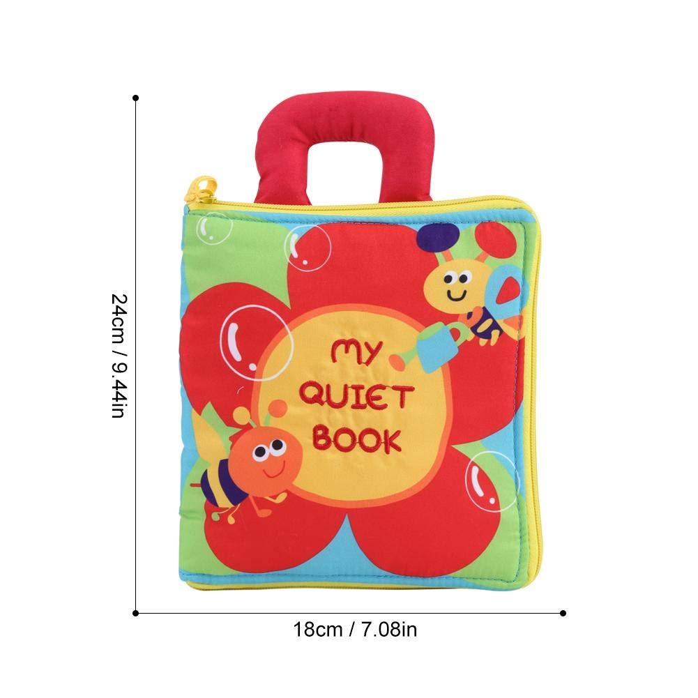 tela no t/óxica divertida Infantil Inteligencia de desarrollo Libro de tela suave Aprendizaje temprano Libro de tela para beb/és educativo para ni/ños Libro Blando de Beb/é Libro de tela para beb/és