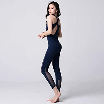 Amazon.com: Jian E-& Tight-Fitting - Mono de yoga de malla ...