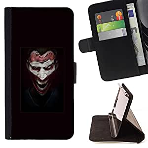 Momo Phone Case / Flip Funda de Cuero Case Cover - Face Joker Evil - Sony Xperia Z2 D6502