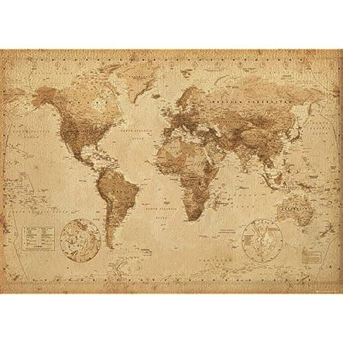 Big maps amazon antique style world map giant poster vintage design size 55 x 39 poster poster strip set gumiabroncs Images