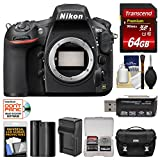 Nikon D810 Digital SLR Camera with 64GB Card + Kit (Certified Refurbished)