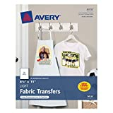 #1: Avery T-shirt Transfers for Inkjet Printers for light-colored, 8.5 x 11 Inches, Pack of 18 (08938)