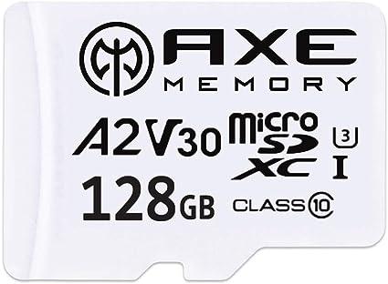 Axe 128gb Microsdxc Speicherkarte Sd Adapter Mit A2 Computer Zubehör