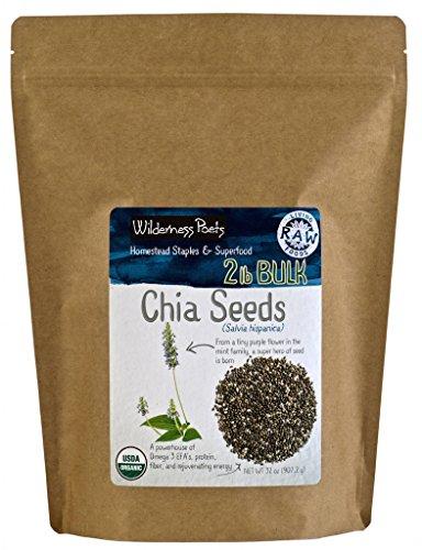 Wilderness Poets Organic Black Chia Seeds - Bulk Chia (2 Pound ()