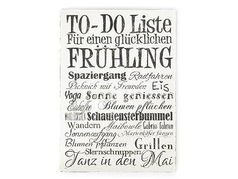 To Do Liste Ideen amazon de wandtafel to do liste frühling vintage shabby schild