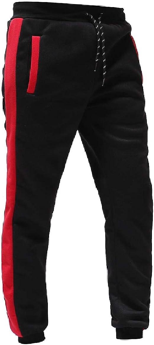 Sayah Mens Cozy Spell Color Pockets Drawstring Loose Sport Baggy Pants